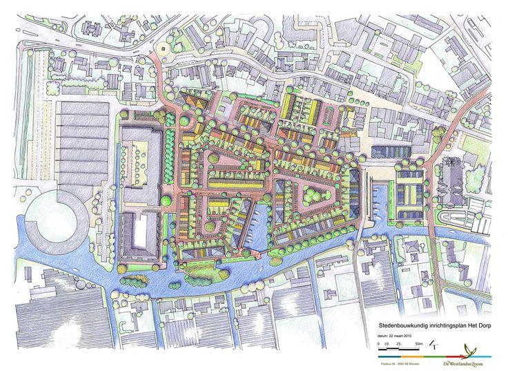 Presentatietekening stedenbouwkundig plan