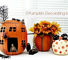 Decorating Pumpkins Using Foam Pumpkins