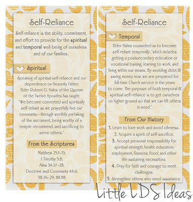 September VT Message Printable: Self-Reliance