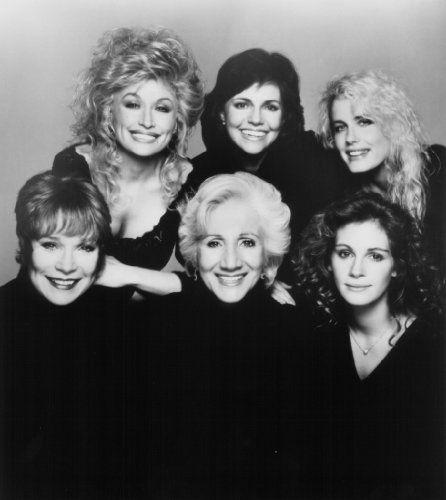 Julia Roberts, Sally Field, Daryl Hannah, Shirley MacLaine, Dolly Parton, and Olympia Dukakis in Steel Magnolias (1989)