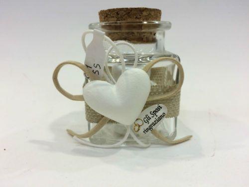 Bomboniere-Barattolo-confetti-vetro-quadrato-tappo-sughero-matrimonio-10pezzi-x