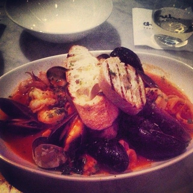 Starting the night with a plate of Zuppa Di Pesce! #toronto #queenwest #food #seafood