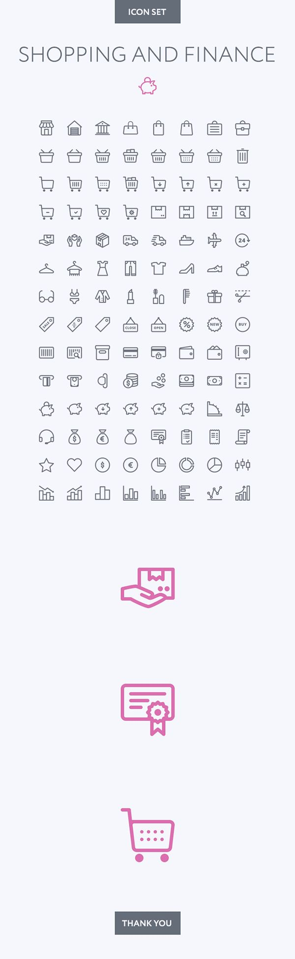 Shopping and Finance icon set on Behance