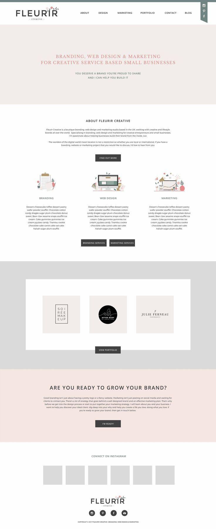 Fleurir Creative Homepage Design   Designed by Fleurir Creative