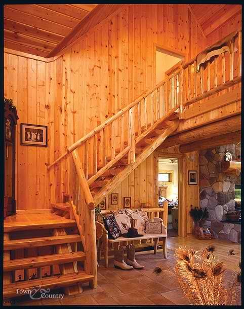 Photos Of Railing Systems In Log Homes Michigan Cedar