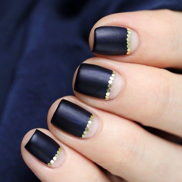 Black nail art Настя @u_nona | Websta (Webstagram)