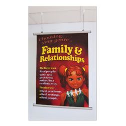 Silver Poster Rails Hanging Pack