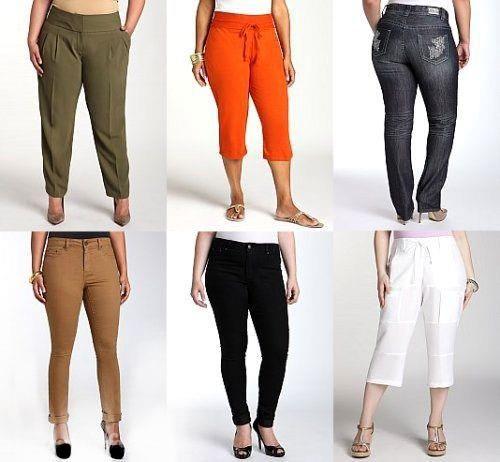 Одежде для полных женщин брюки ботинки