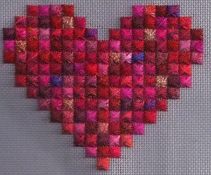 Rhodes Stitch Heart by Janet Perry