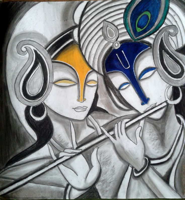 radha krishna abstract paintings - Google Search