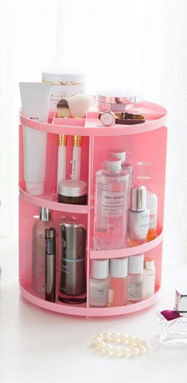 boite de rangement maquillage 3d rotatif   rangement maquillage