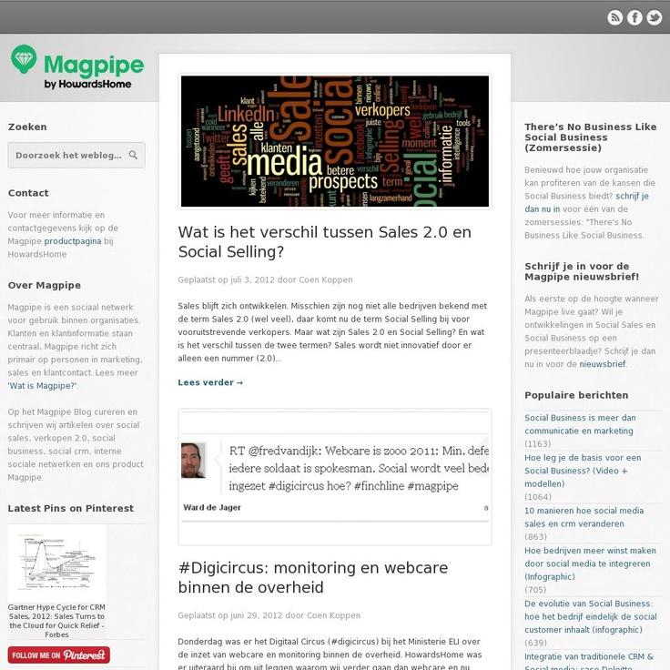 Ons Magpipe Blog over social sales, sales 2.0, crm, marketing, enterprise social networks en meer