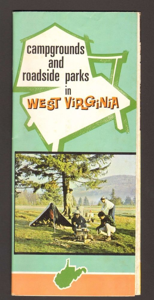 Undated Vacation Travel Brochure Campgrounds Roadside Park West Virginia Map WV