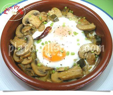 Huevos con champiñones   Platos Plis PlasPlatos Plis Plas