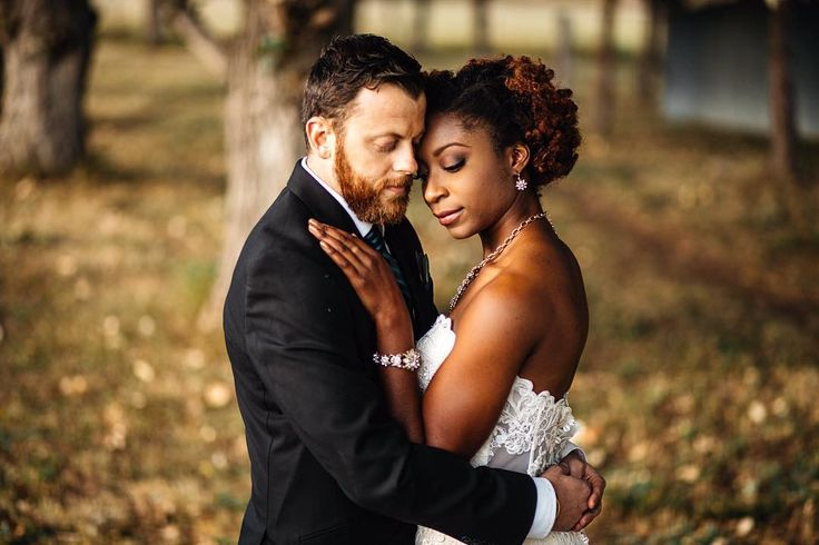 """""""Inside your arms is the place that I'll call home"""" ❤ Gorgeous interracial couple on their wedding day in Boulder, Colorado #love #wmbw #bwwm #swirl #wedding"""