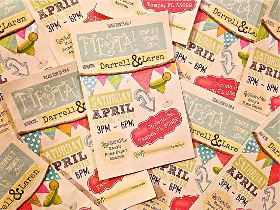 Couple's Shower/Rehearsal Dinner Invitations Mexican by OohLaLlew, $24.00