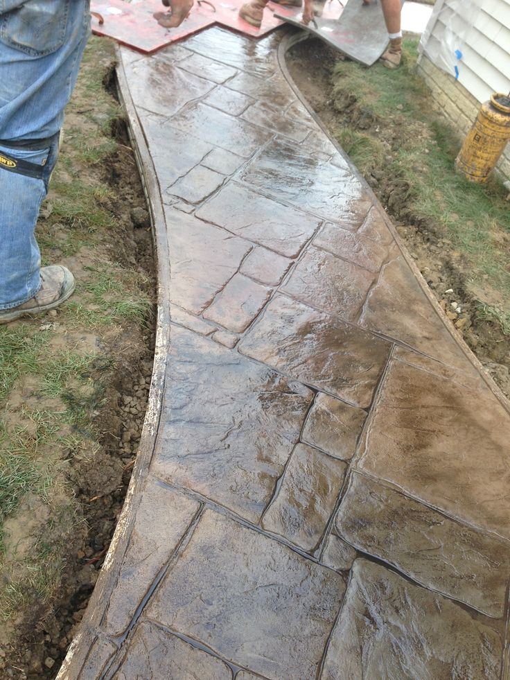 Stamped Concrete Sidewalk English Yorkstone