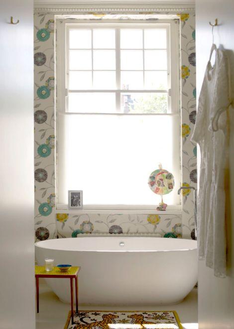 .Bathroom Interior, Bathroom Colors, Bathtubs, Dreams Bathroom, Happy Bath, White Bathroom, Fun Bathroom, Cleaning Tubs, Bathroom Wallpapers