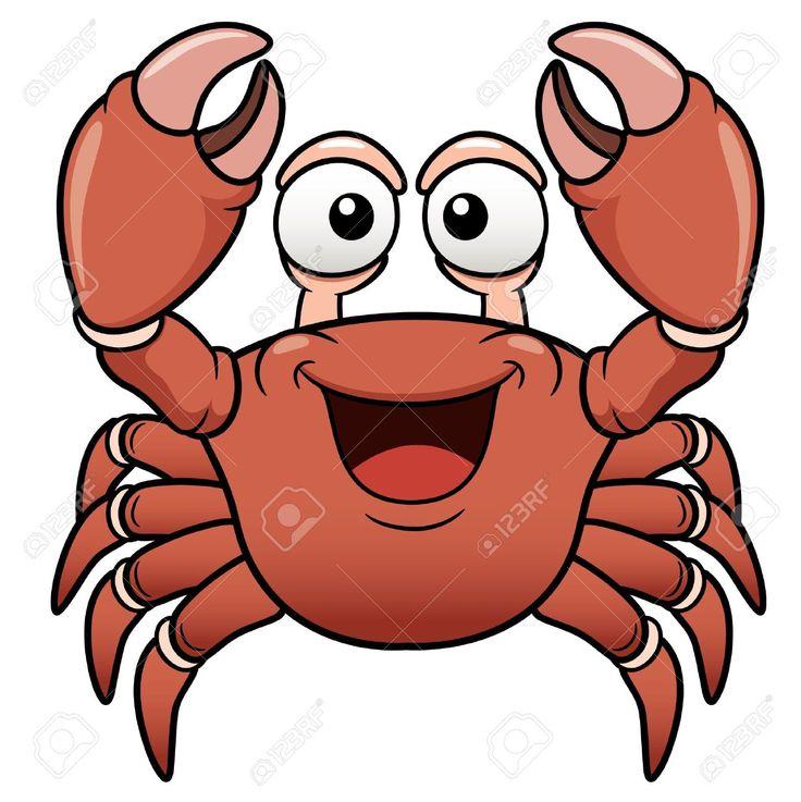 Ilustración vectorial de dibujos animados: El cangrejo.