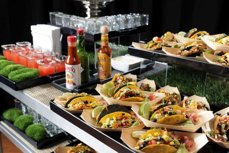 Taco & Margarita Cart- This is great party food. See it outside by the pool...