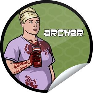 Steffie Doll's Archer Episode 7 Sticker | GetGlue