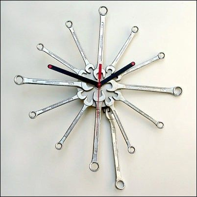 Wrench Clock! Perfet Fathers Day Gift!