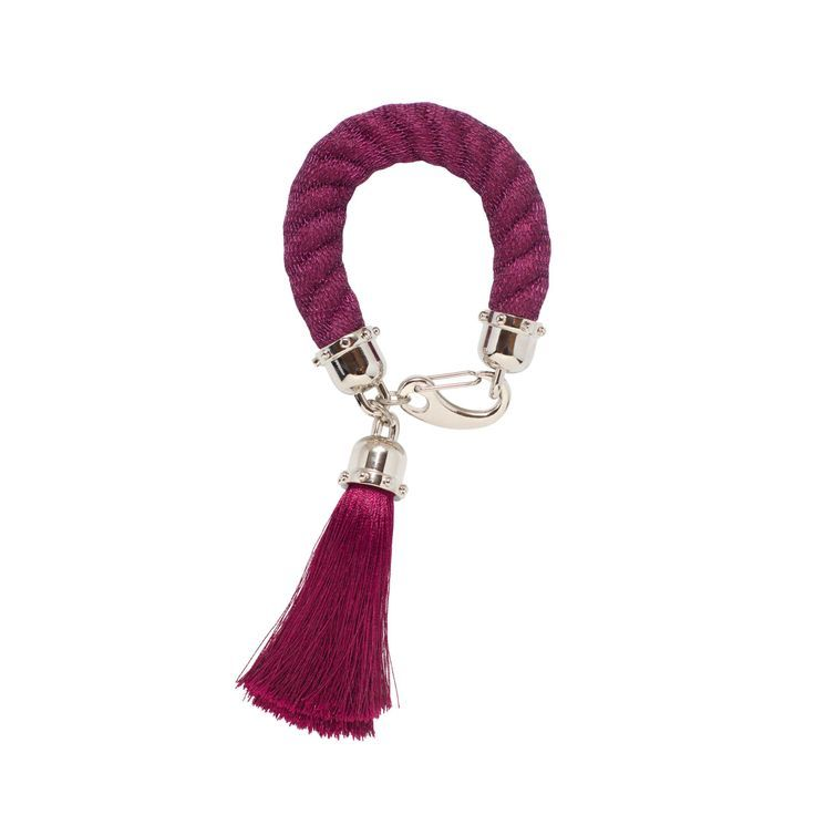 Bracelets For Ladies  :    CAPELLA cuff rope statement bracelet in maroon colour  - #Bracelets  https://talkfashion.net/acceseroris/bracelets/bracelets-for-ladies-capella-cuff-rope-statement-bracelet-in-maroon-colour/