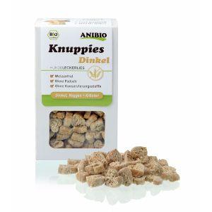 Knuppies Bio Trigo Verde, snacks para perros naturales que aportan salud y nutrientes adicionales a tu perro en el día a día. ¡Premia la salud!