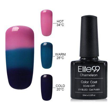 Gel Nail Polish, Elite99 UV LED Temperature Colour Changing Gel Polish Soak Off Chameleon Nail Varnish 10ml (4219): Amazon.co.uk: Beauty