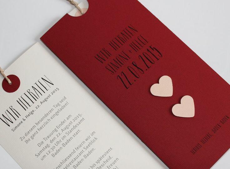 Hochzeitskarte LOFTY rot
