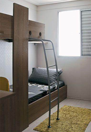 Apartamento de 45 m² com tudo arrumado Quartos ~ Quarto Planejada Para Apartamento