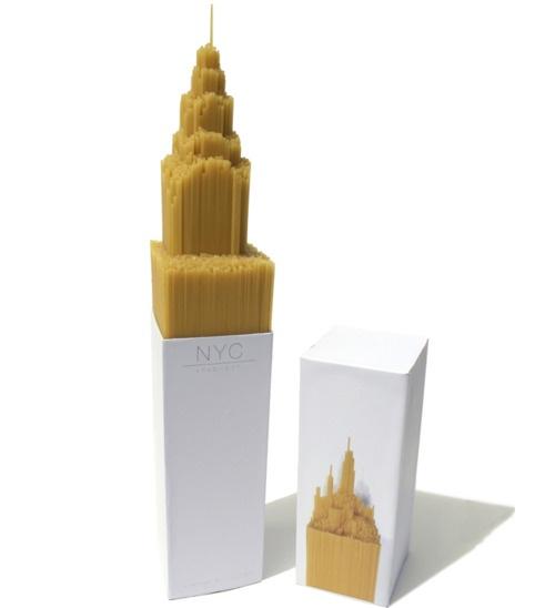 A Spaghetti Model of the Chrysler building by University student Alex Creamer