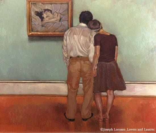 Josept Lorusso - Lovers and Lautree #art / Your Lifetime Gallery ::: www.cubbying.com