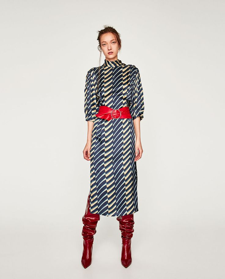 Image 1 of MIDI DRESS WITH BUTTONS from Zara
