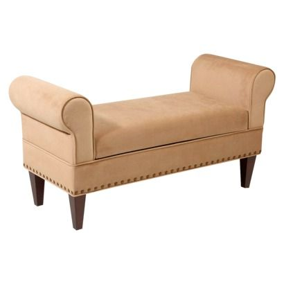 Georgetown Rolled Arm Bench With Lift Top Storage Velvet