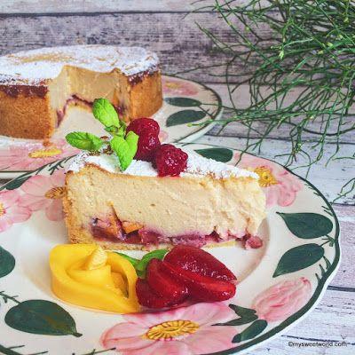 Sweetys World: Käsekuchen mit Obst, vegan