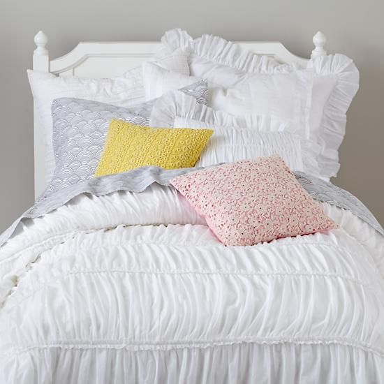 Vintage Antique Chic Bedding (White) | The Land of Nod
