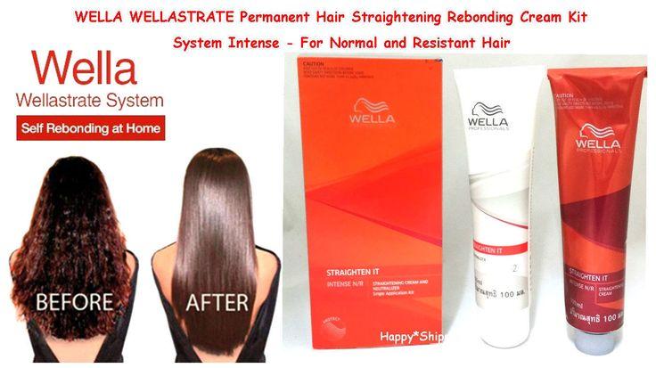 2Xwella Wellastrate Permanent Hair Straightening Rebonding Cream Kit System Mild
