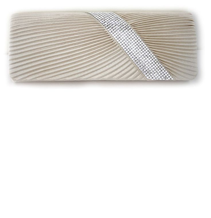 Champagne Sateen Evening Clutch