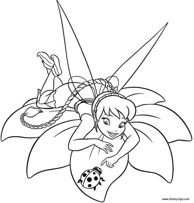 Printable Tinkerbell Coloring Pages | modern valentine ...