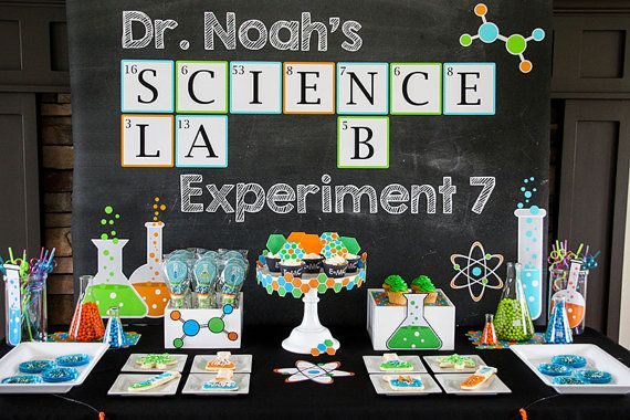 Science Party - Scientist Birthday - Boys Birthday Party - INSTANT Download PRINTABLE Package - Science Experiment