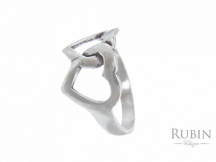 Szív motívumos ezüst gyűrű