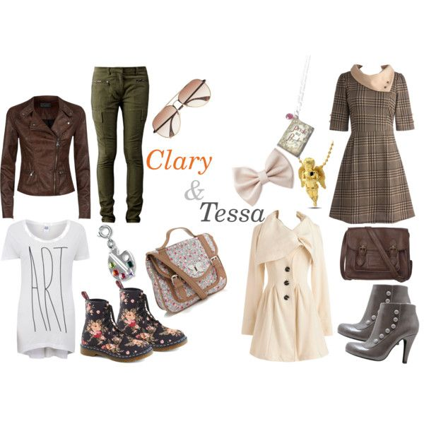 """""""Clary Fray (TMI) & Tessa Gray (TID)"""" by starberry-cupcake on Polyvore"""