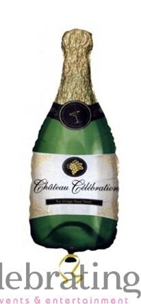 Champagne Bottle Supershape Foil Balloon Balloons Online   Online Party Supplies Store   Wholesale Balloon Supplies   Online Balloon Ordering   Balloons Delivered   Balloon Delivery Sydney Metro   Buy Balloons Online   Online Balloon Sales