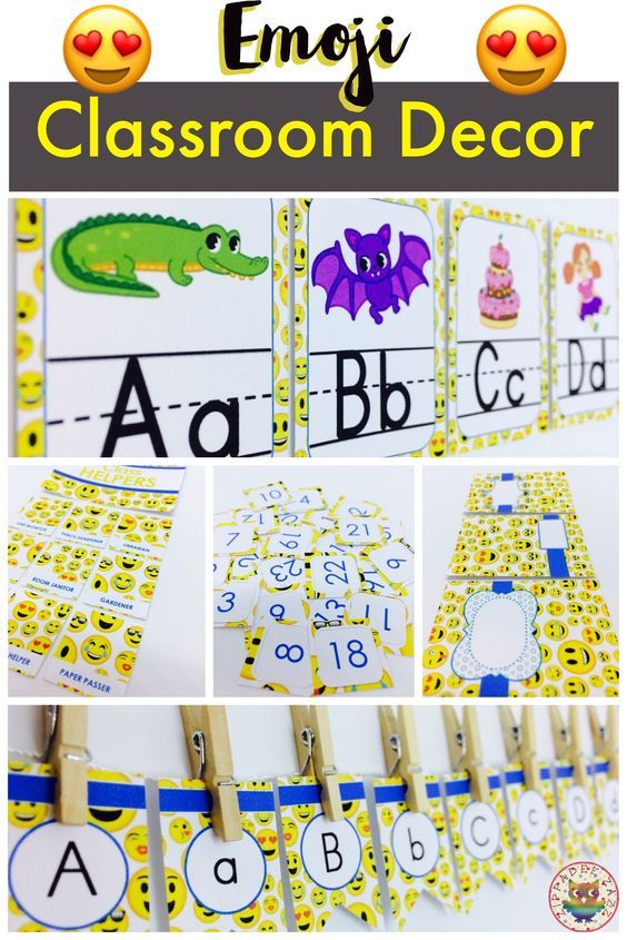 If you're in search for inspirational ideas to spruce up your elementary classroom - I think I can help you, and not break the bank in the process! This classy, modern, on a budget Emoji Classroom Décor theme can be a quick and easy way to instantly transform any primary classroom with it's bright yellow and blue color scheme, and cute emojis - what is there NOT to love?! If you're worried about organization - keep your classroom simply organized with the included editable, printable label