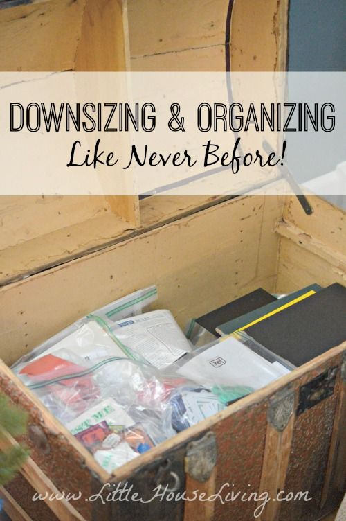 How to Downsize and Organize Like Never Before This spring we will have lived in our little farmhouse for a year. Although we bought it in November, we didn't m