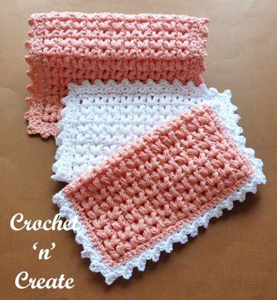 Puff Stitch Dishcloth Grátis Crochet Padrão
