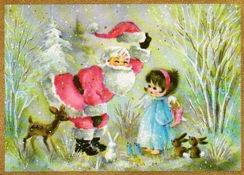 Cute Santa Christmas Card