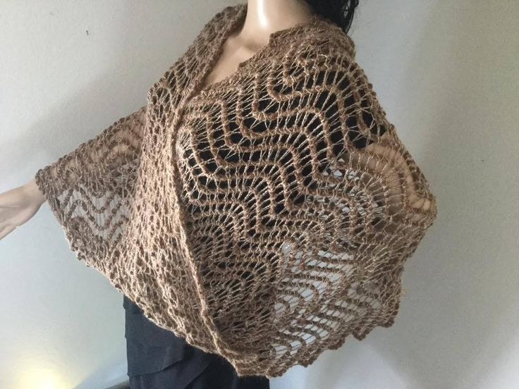 Lace chevron ripple suri alpaca Mobius Moebius convertible shawl wrap cowl snood crochet dye-free by FirstRateYarnFancies on Etsy