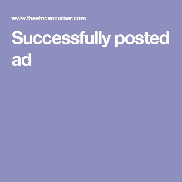 Successfully posted ad